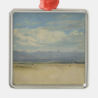 Sunny Mountainous Panorama, 1829 Christmas Ornament