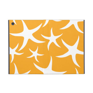 Sunny Orange and White Starfish Pattern. iPad Mini Cover