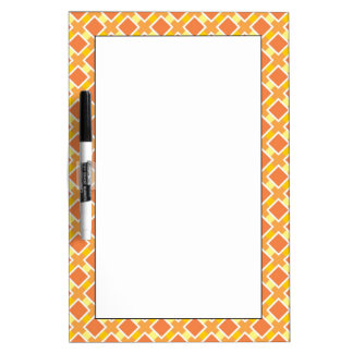 Sunny orange background retro dry erase whiteboard