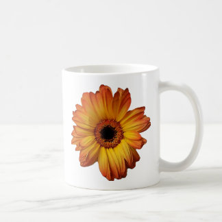 Sunny Orange gerbera flower bloom Basic White Mug