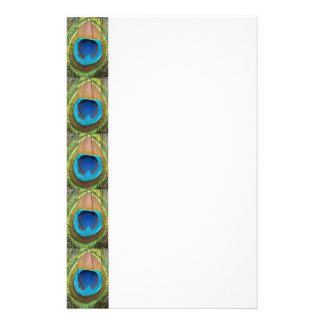 Sunny Peacock Feather Stationery Paper