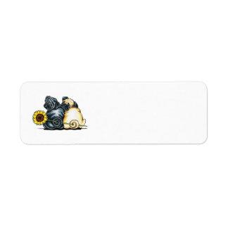 Sunny Pugs Return Address Label