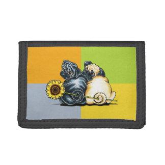 Sunny Pugs Tri-fold Wallet