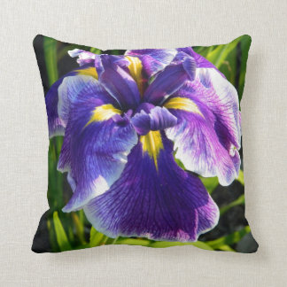 Sunny Purple Iris Pillow