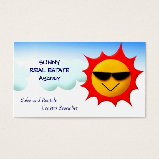 Sunny Real Estate Business Card