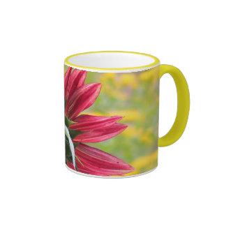 Sunny Red - Sunflower Ringer Mug