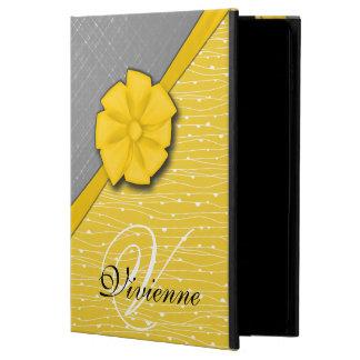 Sunny Ribbon, Two Tone Yellow Waves Grey Fabric Powis iPad Air 2 Case