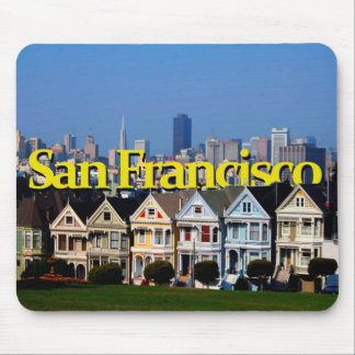 Sunny San Francisco w San Francisco in the Sky Mouse Pad