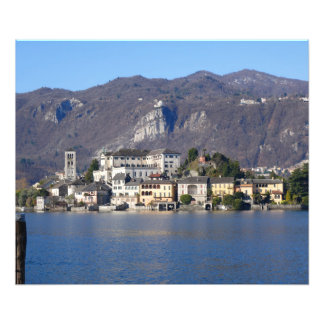Sunny San Giulio Island, Lake Orta, Italy Photo Print