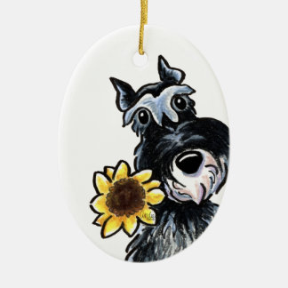 Sunny Schnauzer Classic Personalized Christmas Ornament