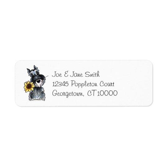 Sunny Schnauzer Classic Return Address Label