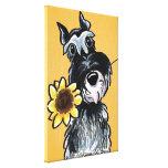 Sunny Schnauzer Sunflower Off-Leash Art™ Drawing