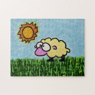 Sunny Sheep Jigsaw Puzzle