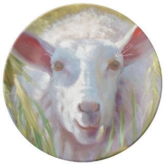 Sunny Sheep Plate