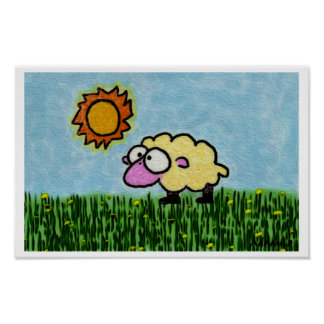 Sunny Sheep Poster