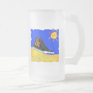 """""""Sunny Shoe"""" by Katie winner 08.03.09 Frosted Glass Mug"""