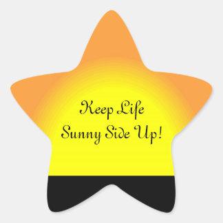 Sunny Side Up Star Sticker