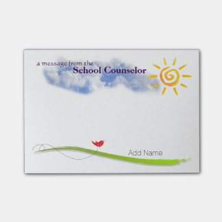 Sunny Skies Custom School Counselor Post-it Notes