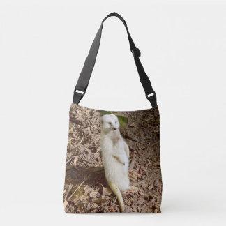 Sunny Smiling White Meerkat, Cross Body Bag