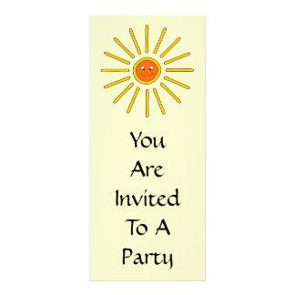 Sunny Summer Sun Yellow on Cream Personalized Invites