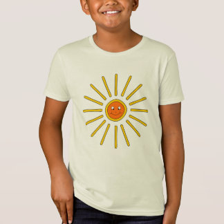 Sunny Summer Sun. Yellow on Cream. T-Shirt