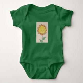 sunny sunflower baby bodysuit