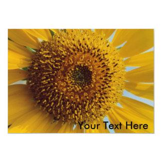 Sunny Sunflower -  Giant Yellow Center Close up Custom Invitations