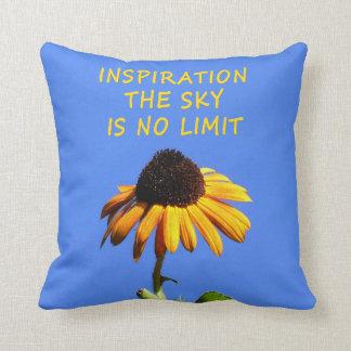 Sunny Sunflower Inspiration I Pillow