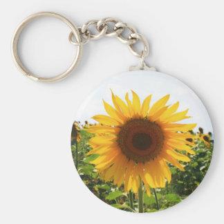 Sunny Sunflower Key Ring