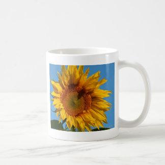Sunny Sunflower Basic White Mug