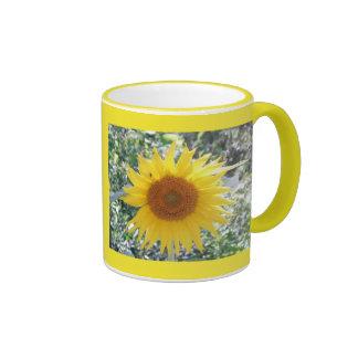 Sunny Sunflower Ringer Mug