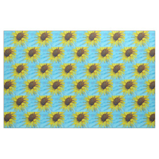 Sunny Sunflower w/Blue Fabric