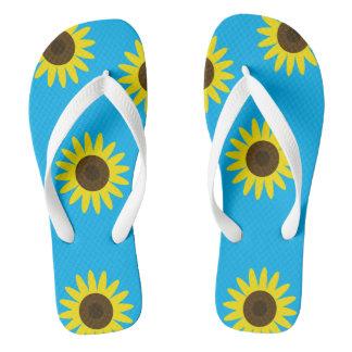 Sunny Sunflowers Flip Flops