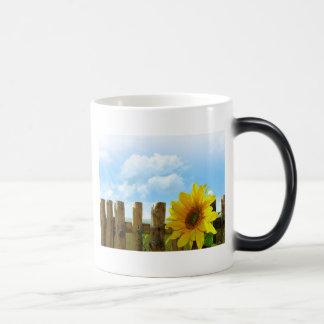 Sunny Sunflowers Morphing Mug