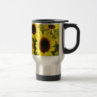 Sunny Sunflowers Stainless Steel Travel Mug