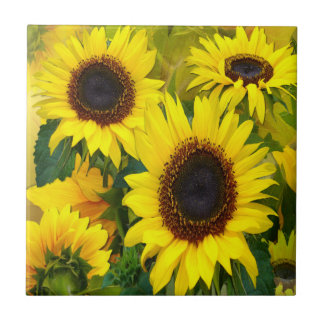 Sunny Sunflowers Tile