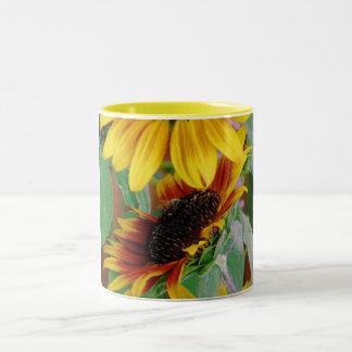 Sunny Sunflowers Two-Tone Mug