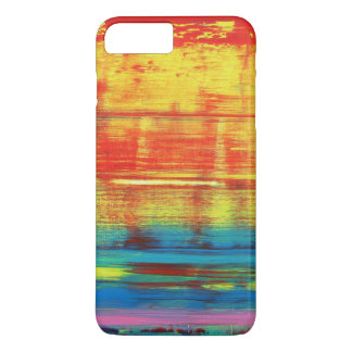 Sunny Sunset Colorful Abstract Art iPhone 7 Plus Case