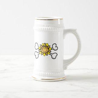 Sunny Sunshine Skull and Crossbones Coffee Mugs