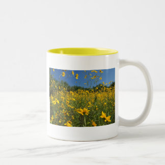 Sunny Swamp Sunflowers Two-Tone Mug