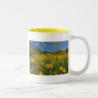 Sunny Swamp Sunflowers Two-Tone Mug