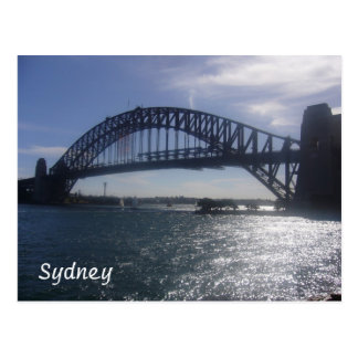 sunny sydney bridge postcard