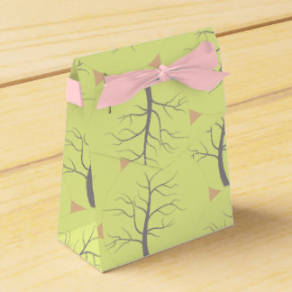 Sunny Tree Circles Pattern Favor Gift Box