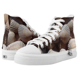 Sunny Tropical Exotic Summer Beach Sea Shells High Tops