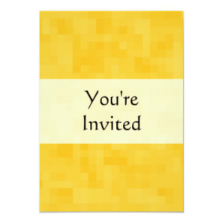Sunny Yellow Abstract Design. 13 Cm X 18 Cm Invitation Card