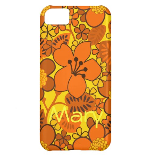 Sunny Yellow and Orange Floral Pattern iPhone 5C Cases