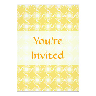 Sunny Yellow and White Swirl Pattern. Custom 13 Cm X 18 Cm Invitation Card