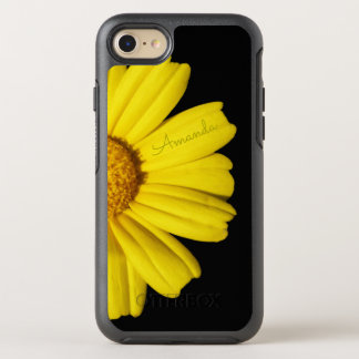 Sunny Yellow Chamomile - with Name - OtterBox Symmetry iPhone 8/7 Case