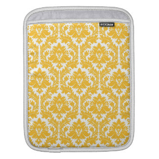 Sunny Yellow Damask Sleeves For iPads