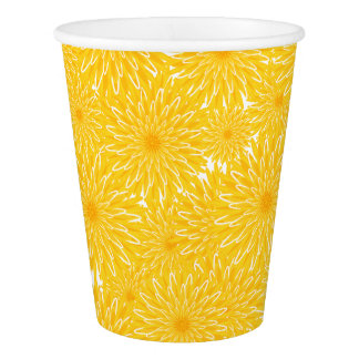 sunny yellow dandelion flowers nature's mandala paper cup